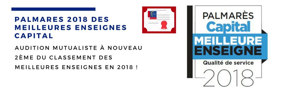 b2c9851a49989f AUDITION MUTUALISTE – PALMARÈS 2018 DES MEILLEURES ENSEIGNES – CAPITAL